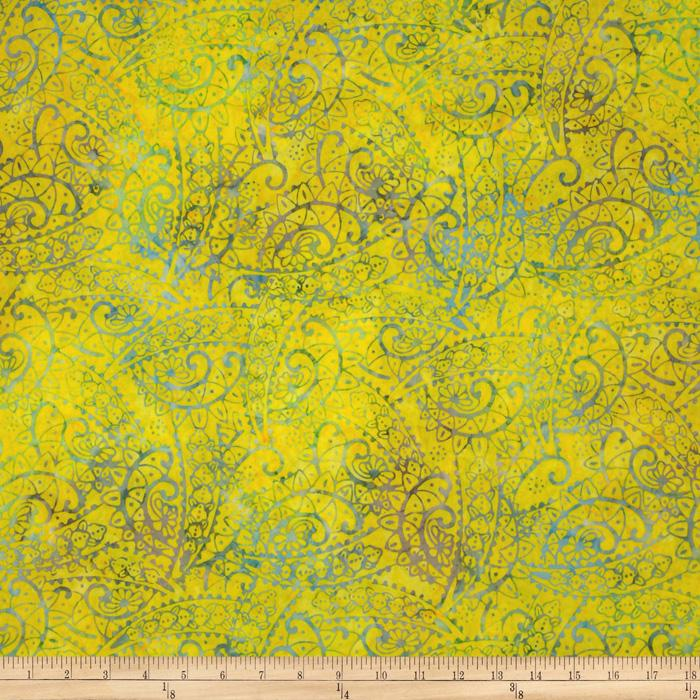 Tonga Batik Lemon Poppy Flourish Neon