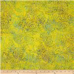 230047 Tonga Batik Lemon Poppy Flourish Neon