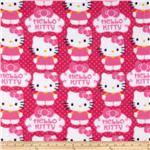 221992 Novelty Fleece Hello Kitty Fleece Cupcake Pink