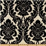 UI-122 Dior Flocked Damask Taffeta Ebony/Almond