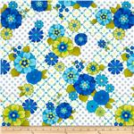 0272344 Mediterranean Dream Floral Geo White