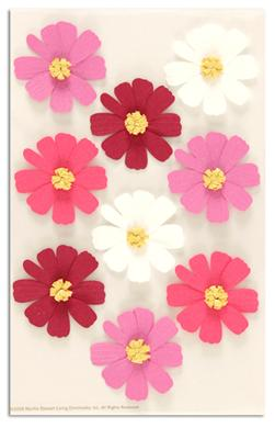 Martha Stewart Crafts Stickers Cosmos Flowers Pink/White