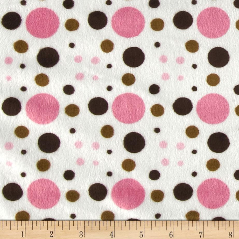 Minky Venus Dots Light Pink/Brown