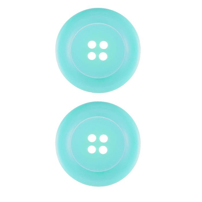 Riley Blake Sew Together 1 1/2'' Matte Round Button Aqua