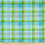 0262618 Fleece Plaids Blue/Green