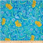 238010 The Painted Garden Blossom Aqua