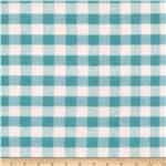 0268162 Riley Blake Flannel Basics Gingham Medium Aqua