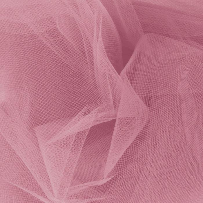 108&#39;&#39; Wide Nylon Tulle Dusty Rose