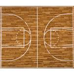 EN-927 Sports Life Basketball Court Panel Brown