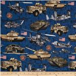 Military Salute Tanks Blue