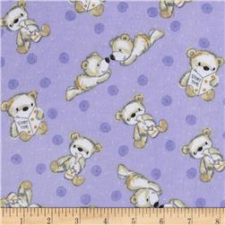 Flannel Tossed Baby Bears Purple