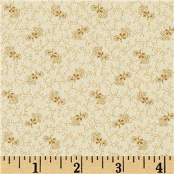 Bonsoir Flannel Ditsy Vines Cream