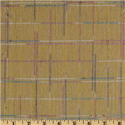 Wool Blend Coating Color Plaid Yellow/Multi