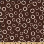 Cozy Cotton Flannel Circles &amp; Dots Cocoa