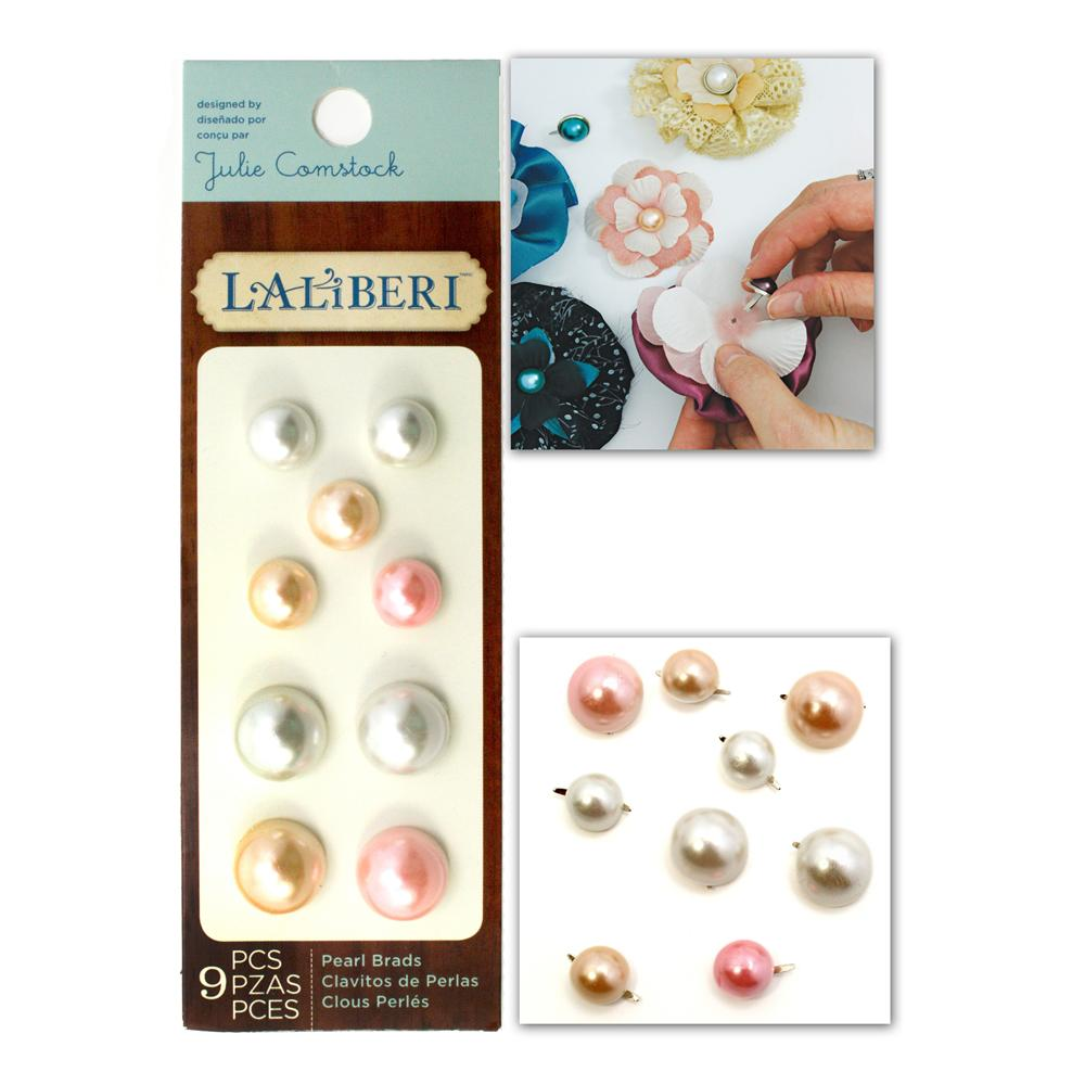 Laliberi Pearl Brads Assorted Light