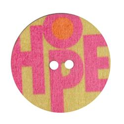 Novelty Button 1 3/8'' Hope Green