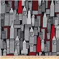 The Big Apple Sky Scrapers Black/Red
