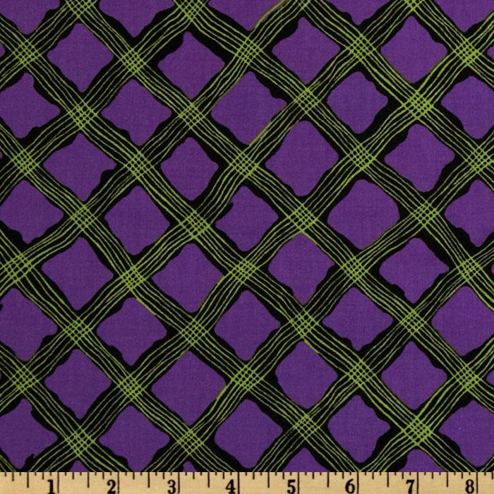 Perfect Pansy Crosstring Plaid Purple