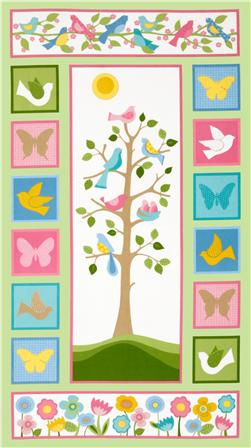Tree Of Life Flannel Panel Pastel