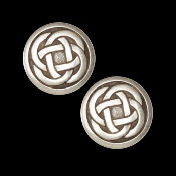 Metal Button 3/4'' Celtic Knot Antique Silver