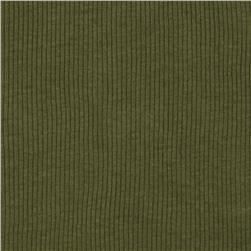 Cotton Rib Knit Olive