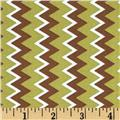 Owl Wonderful Zig Zag Stripe Brown/Green