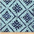 Indian Batik Blue Magic Large Check Indigo