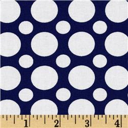 Kaufman Spot On Large Dot Navy