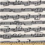 DI-138 WinterFleece Musical Notes Black/Ivory
