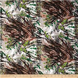 Jungle Safari Broadcloth Animal Green/Grey