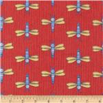 214320 Bot Buddies Flannel Doppler Dragonflies Orange