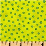 0280205 Moda Simple Marks Summer Speckeled Dot Acid Green