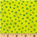 Moda Simple Marks Summer Speckled Dot Acid Green