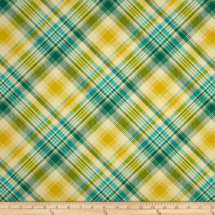 Joel Dewberry Notting Hill Sateen Tartan Aquamarine