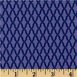 Paisley Please Lattice Navy/Purple