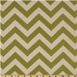 216468 Premier Prints Zig Zag Village Green/Natural
