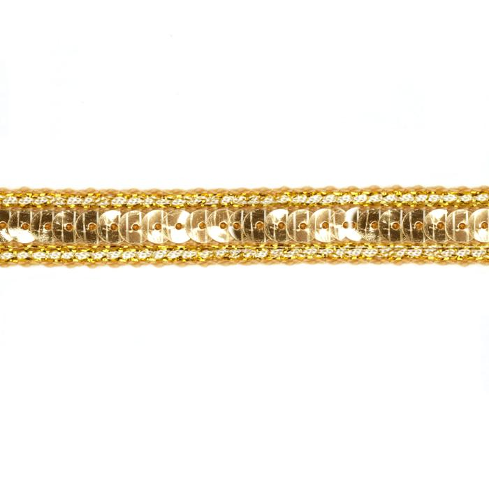 1/2'' Sparkle Edge Sequin Trim Gold