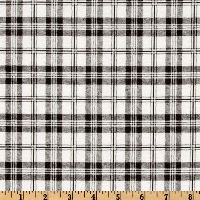 Premier Prints Tommy Plaid White/Black