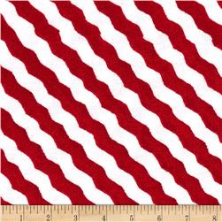 Snow Magic Scarf Stripe Red