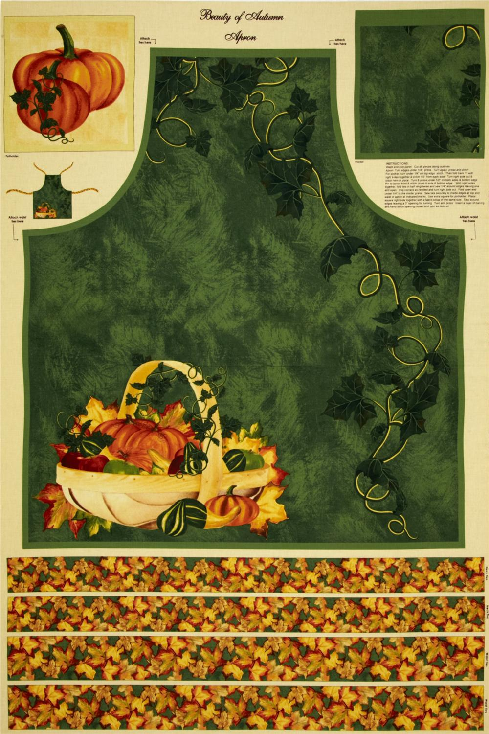 Beauty of Autumn Apron Panel Multi