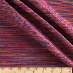 Sedona Sunset Metallic Shot Cotton Stripes Fuschia/Multi