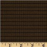 Designer Stretch Suiting Mini Plaid Brown