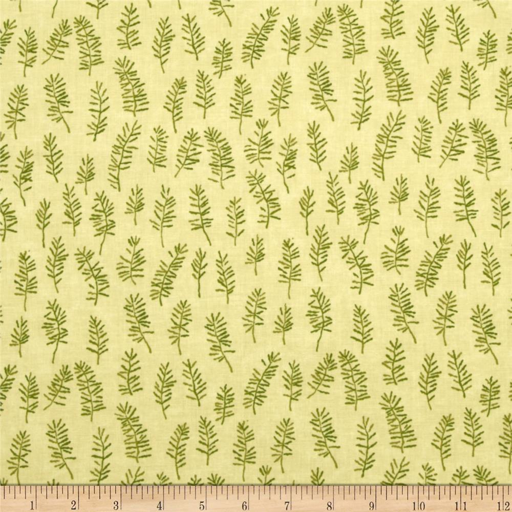 Moda Enchanted Pond Prints Grasses Cream