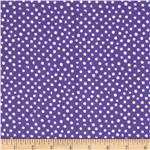 Dear Stella Snow Days Flannel Dots Purple