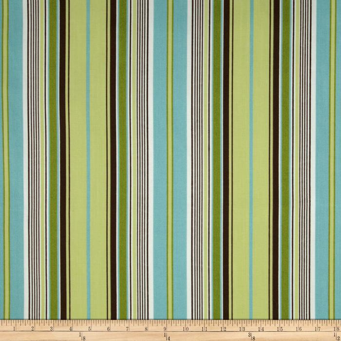 Premier Prints Terrace Stripe Indoor/Outdoor Kelso/French Blue