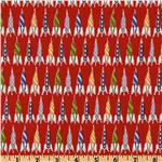 EN-293 Michael Miller Children at Play Rockets Red
