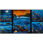 EU-462 Rainbow Cove Sea Creatures Panel Ocean