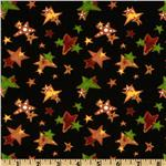 223391 Ginger Tree Allover Stars Black