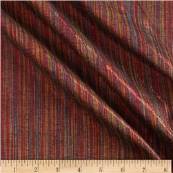 Bejeweled Metallic Shot Cotton Stripes Red/Multi