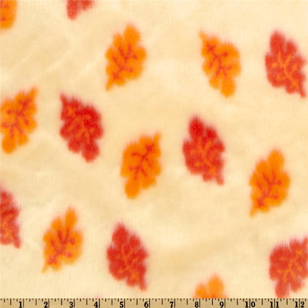 Faux Fur Leaves Cream